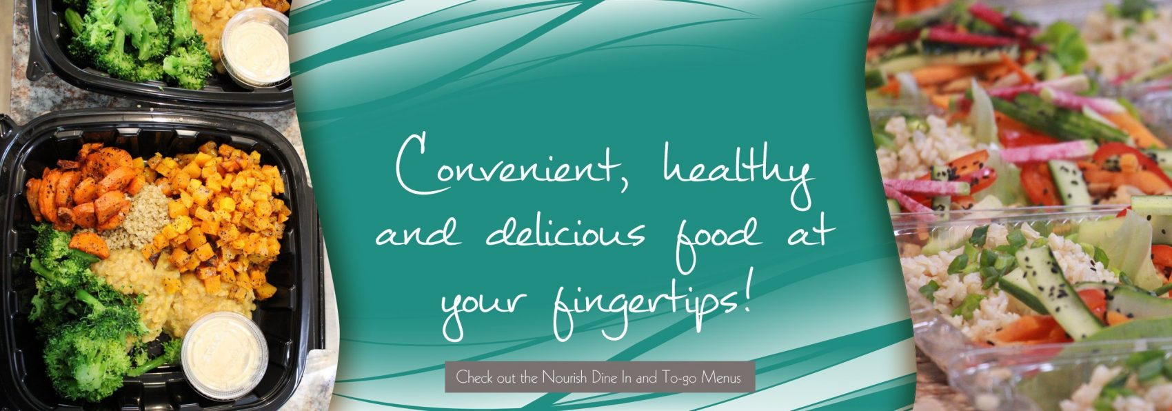 Convenient, healthy and delicious food at your fingertips!
